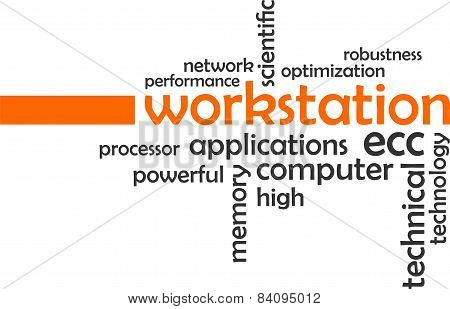 word cloud - workstation