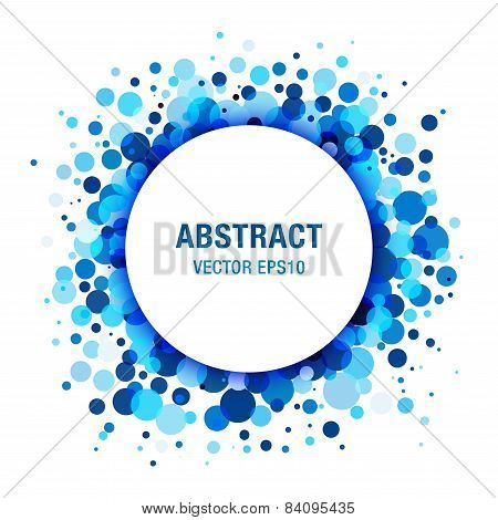 Blue Bright  Abstract Circle Frame Design Element