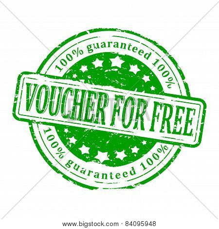 Damaged Green Stamp - Voucher For Free