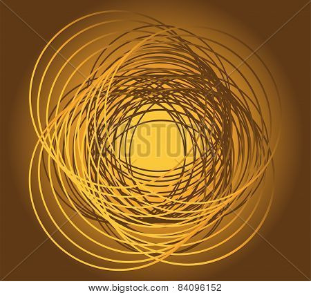 Golden circle in motion rotating vector