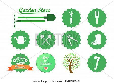 Set Of Icons For Garden Website