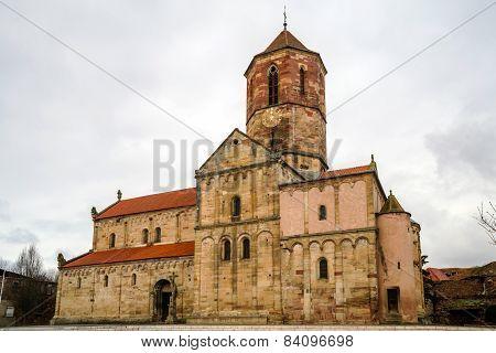 Old Medieval Church In Village Rosheim, Alsace