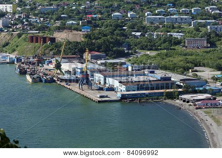 View Of Port Petropavlovsk-kamchatsky. Kamchatka, Russia
