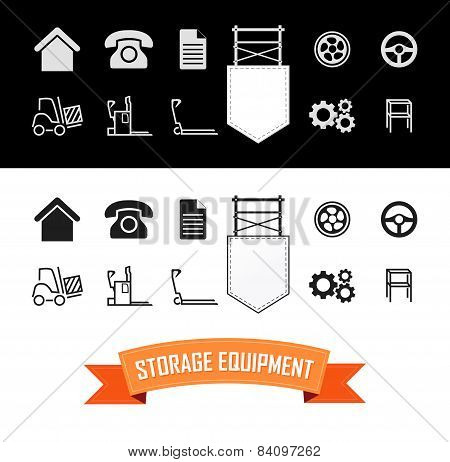 Merchandise Vector Icons Set