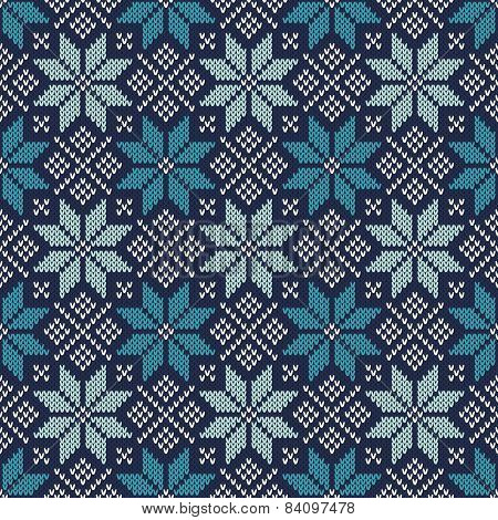 Knitted Vintage Sweater Design. Fair Isle Seamless Pattern