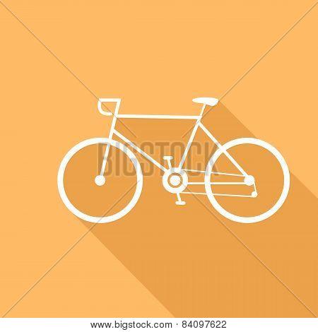 Sport Bike Vector Illustration Of A Flat Design.