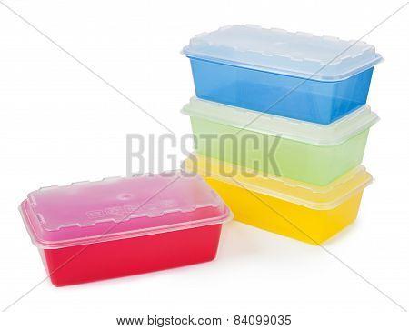 Plastic Box Isolated On White Background
