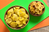 Постер, плакат: Salty and Sweet Plantain Chips