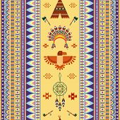 picture of peace  - Vector vintage tribal ethnic seamless pattern for business - JPG