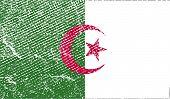 stock photo of algeria  - Flag of Algeria with old texture - JPG