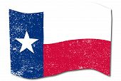 stock photo of texas star  - The flag of the USA state of TEXAS - JPG
