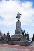 stock photo of lenin  - the Monument to Lenin in city Sevastopol - JPG