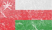 stock photo of oman  - Flag of Oman with old texture - JPG