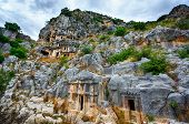 pic of burial  - Ancient burial place of Myra in Turkey