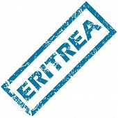 image of eritrea  - Eritrea grunge rubber stamp on a white background - JPG