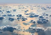 foto of aeroplan  - Beautiful sky with clouds a view from an aeroplane above the clouds - JPG