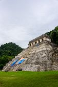 foto of mayan  - View of Historic Mayan Site. Traveling Through Chiapas Mexico.