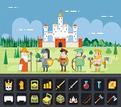 picture of fairy tail  - Flat Design Castle Cartoon Magic Fairy Tail Landscape - JPG