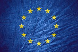 pic of union  - European Union flag or Europe banner on wooden texture - JPG