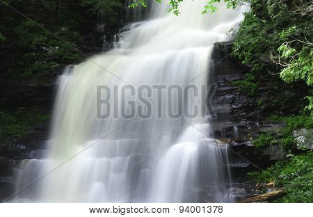 Waterfall Over The Mountain