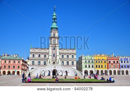 Main Square in Zamosc, Poland