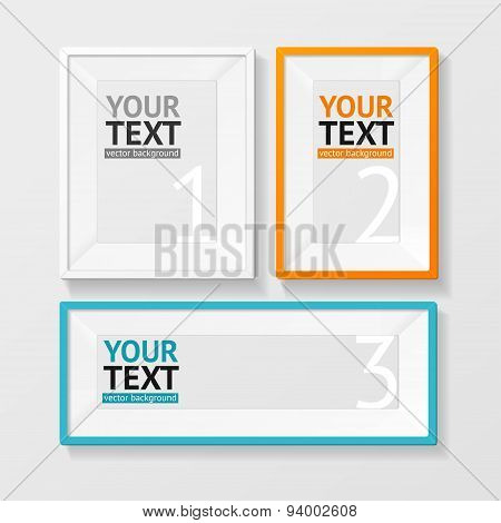 Vector colorful picture frame option banner