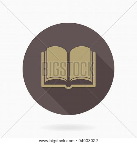 Fine Vector Book Icon With Flat Design