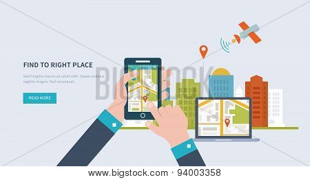 Concepts for finding the right place and people on the map for travel and tourism.