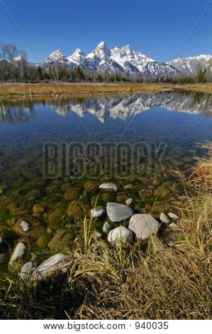 Teton Mountain Range Reflecting