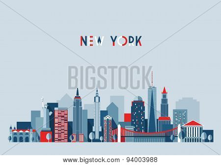 New York City Architecture Vector Illustration