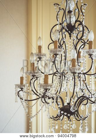 Crystal Chandelier Glamour Interior Decoration Object