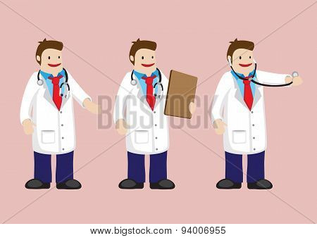 Medical Doctor Vector Cartoon Character
