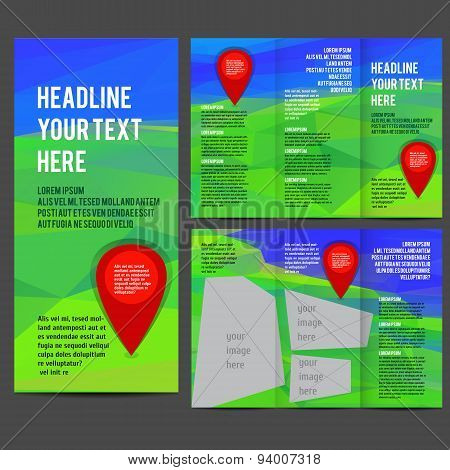 Tri Fold Brochure Vector Design.