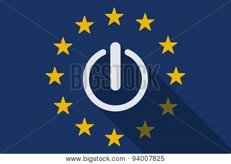 European Union  Long Shadow Flag With An Off Button