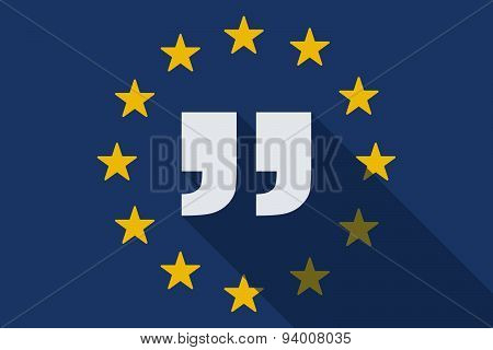 European Union  Long Shadow Flag With Quotes