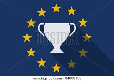 European Union Long Shadow Flag With A Cup