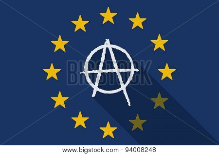 European Union With An Anarchy Sign