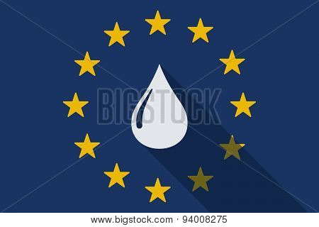 European Union  Long Shadow Flag With A Fuel Drop