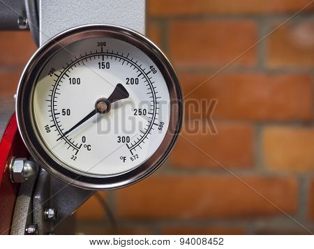 Pressure Gauge Meter Installed Measuring Tool Equipment