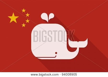 China Long Shadow Flag With A Whale