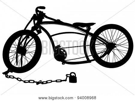Sport man bicycle on white background