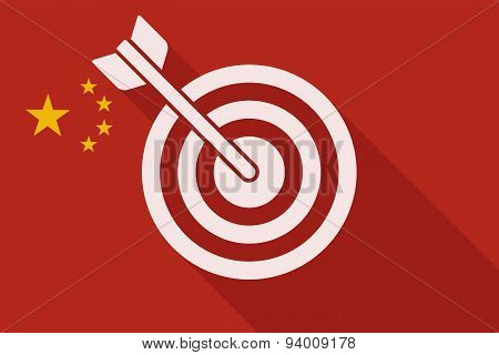 China Long Shadow Flag With A Dart Board