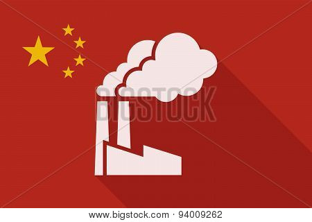 China Long Shadow Flag With A Factory