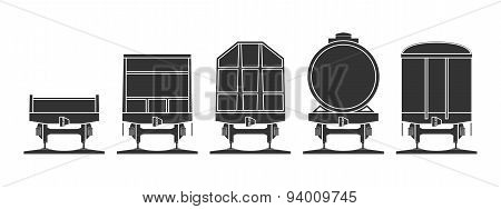Set Of Railroad Cars
