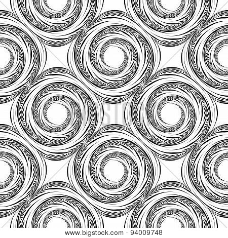 Design Seamless Monochrome Spiral Movement Background