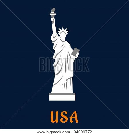 Statue of liberty travel landmark icon