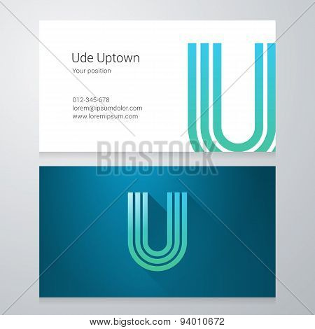Letter Us Business Card Template