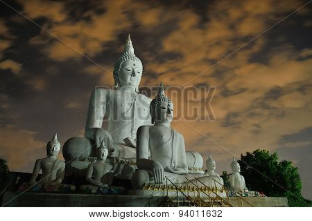 Beautiful Concrete Buddha In Chiangmai Thailand