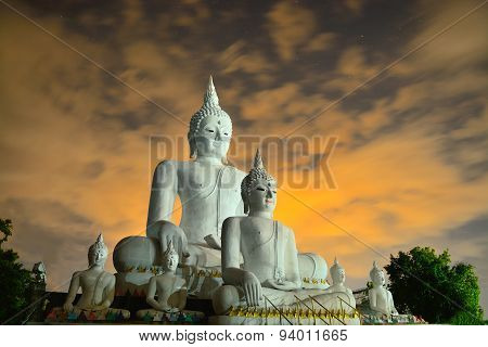 Beautiful Concrete Buddha Structure In Chiangmai Thailand