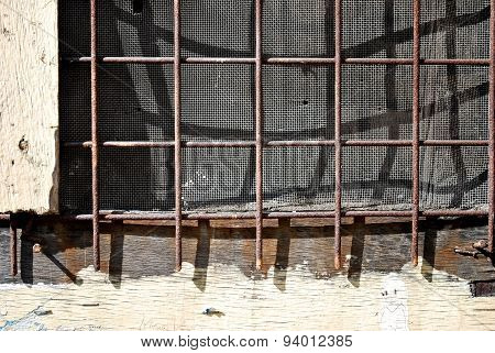 Screen Mesh Wall Window Detail